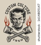 illustration of a devil with... | Shutterstock . vector #1614805147