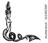 Mermaid Engraving  Isolated On...