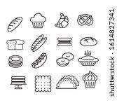 bakery sign black thin line... | Shutterstock .eps vector #1614827341