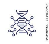 genetic engineering and dna... | Shutterstock .eps vector #1614839914