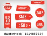 sale sticker set  big... | Shutterstock .eps vector #1614859834