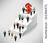 money and people vector... | Shutterstock .eps vector #161486471