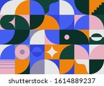 modern artwork of abstract... | Shutterstock .eps vector #1614889237
