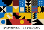 brutalism art inspired abstract ... | Shutterstock .eps vector #1614889297