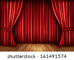 background with red velvet... | Shutterstock . vector #161491574