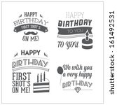 set birthday typography  | Shutterstock . vector #161492531
