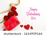 gift box with beautiful red... | Shutterstock . vector #1614959164