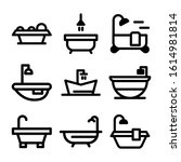 bathtub icon isolated sign... | Shutterstock .eps vector #1614981814