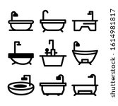 bathtub icon isolated sign... | Shutterstock .eps vector #1614981817