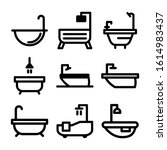 bathtub icon isolated sign... | Shutterstock .eps vector #1614983437