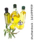 bottle of olive oil with raw...   Shutterstock . vector #161499959