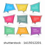 set of quote speech bubbles ... | Shutterstock .eps vector #1615012201