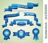 ribbons and medals set  ... | Shutterstock .eps vector #161502005