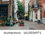 Old Street With Flower Shop In...