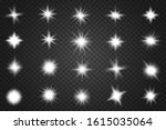 set of glowing light stars with ...   Shutterstock .eps vector #1615035064