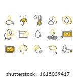 set of water in modern thin...   Shutterstock .eps vector #1615039417