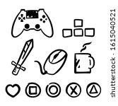 isolated gamer or game... | Shutterstock .eps vector #1615040521