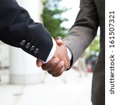 african businessman's hand... | Shutterstock . vector #161507321