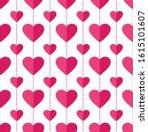 heart seamless pattern. love ... | Shutterstock .eps vector #1615101607