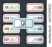 modern user interface button...