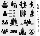 office people icons set. | Shutterstock .eps vector #161514005