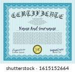 light blue sample certificate... | Shutterstock .eps vector #1615152664