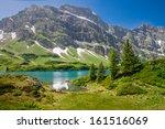 hiking around truebsee lake in...   Shutterstock . vector #161516069