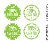 plastic free green icon badge... | Shutterstock .eps vector #1615162447
