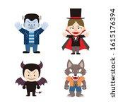 illustration set of characters... | Shutterstock .eps vector #1615176394