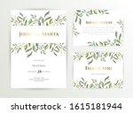 wedding invite. set of card... | Shutterstock .eps vector #1615181944