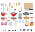 complete set of kitchen... | Shutterstock .eps vector #1615231024