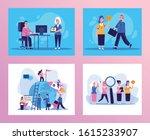 bundle of elegant business... | Shutterstock .eps vector #1615233907