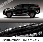 car wrap decal design vector ...   Shutterstock .eps vector #1615242517