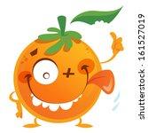 crazy cartoon orange fruit... | Shutterstock .eps vector #161527019