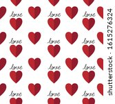 valentines hearts on white... | Shutterstock .eps vector #1615276324