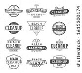 beach cleanup label design set  ... | Shutterstock .eps vector #1615300174