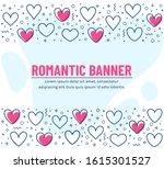 romantic banner with line...   Shutterstock .eps vector #1615301527