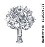 floral composition. bradal... | Shutterstock .eps vector #1615306261