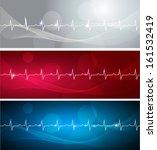 cardiogram banners  various... | Shutterstock .eps vector #161532419