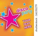 disco party flayer. vector. | Shutterstock .eps vector #16153279