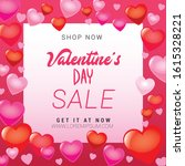 valentines day sale... | Shutterstock .eps vector #1615328221