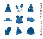 set of hand drawn clothing... | Shutterstock .eps vector #1615333624