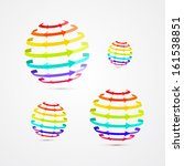 colorful vector sphere shaped... | Shutterstock .eps vector #161538851