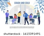 cough and cold epidemic in... | Shutterstock .eps vector #1615391491