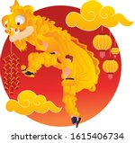 performance of a lion dance at...