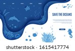 web page design template in... | Shutterstock .eps vector #1615417774
