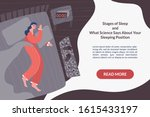 cute vector character sleeping... | Shutterstock .eps vector #1615433197
