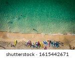 Aerial Image Of Cornish Beach...