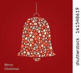 vector christmas card. modern... | Shutterstock .eps vector #161548619