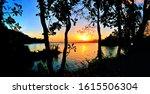 Silhouette Coast  Lake And...